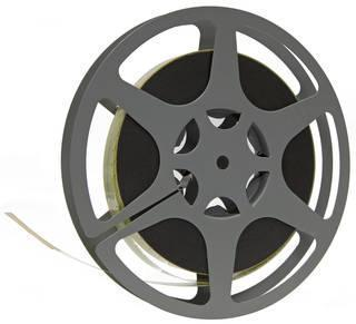 16 mm film reel with no sound